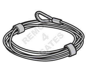 Steel cable HÖRMANN Ø 4 mm 3095589 10 m